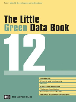 cover image of The Little Green Data Book 2012