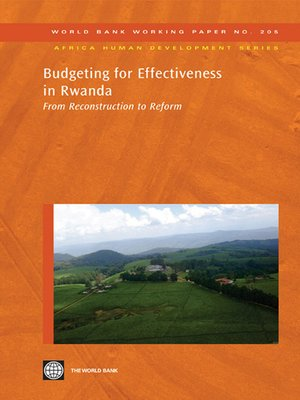 cover image of Budgeting for Effectiveness in Rwanda