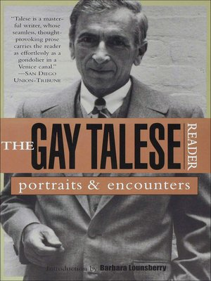 cover image of The Gay Talese Reader