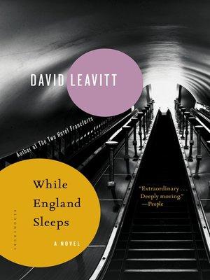 cover image of While England Sleeps