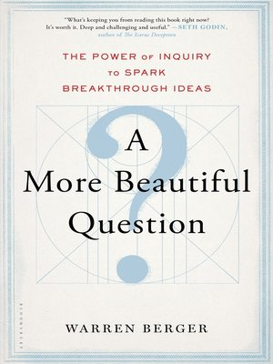 cover image of A More Beautiful Question