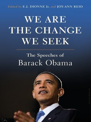 cover image of We Are the Change We Seek