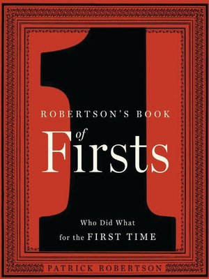 cover image of Robertson's Book of Firsts