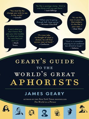 cover image of Geary's Guide to the World's Great Aphorists