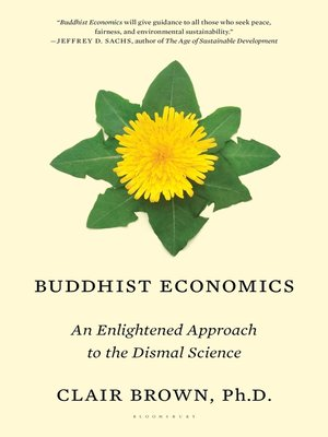cover image of Buddhist Economics