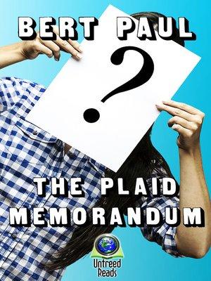 cover image of The Plaid Memorandum