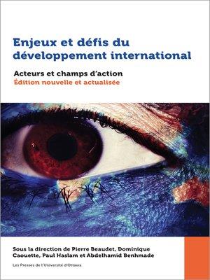 cover image of Enjeux et défis du développement international