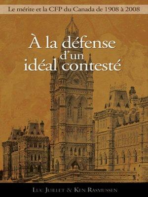 cover image of À la défense d'un idéal contesté