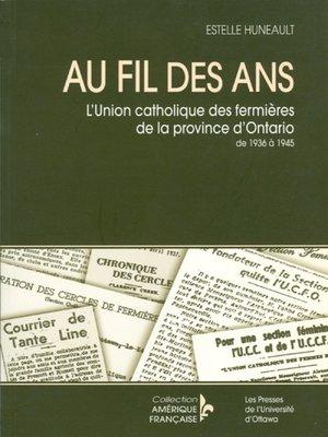 cover image of Au fil des ans