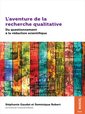 cover image of L'aventure de la recherche qualitative