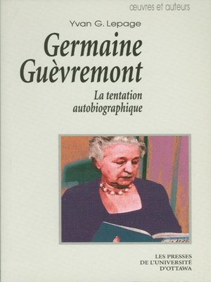 cover image of Germaine Guèvremont