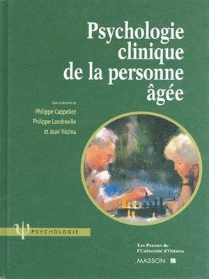 cover image of Psychologie clinique de la personne âgée