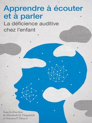cover image of Apprendre à écouter et à parler