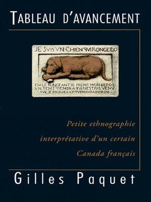 cover image of Tableau d'avancement