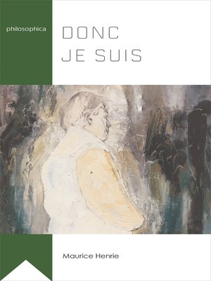 cover image of Donc je suis