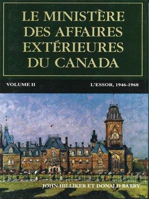 cover image of Le ministère des Affaires extérieures du Canada