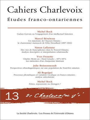 cover image of Cahiers Charlevoix 13