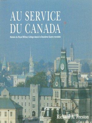 cover image of Au service du Canada