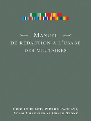 cover image of Manuel de rédaction à l'usage des militaires