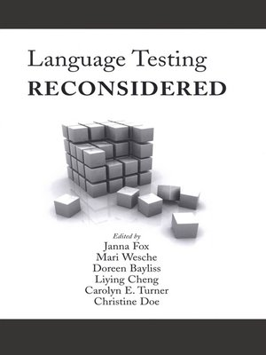 cover image of Language Testing Reconsidered