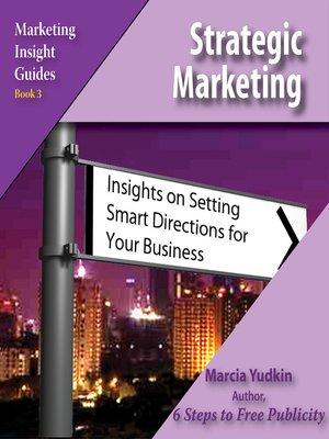 cover image of Strategic Marketing
