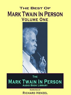 cover image of Mark Twain In Person, Volume 1