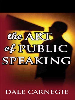 cover image of Art of Public Speaking