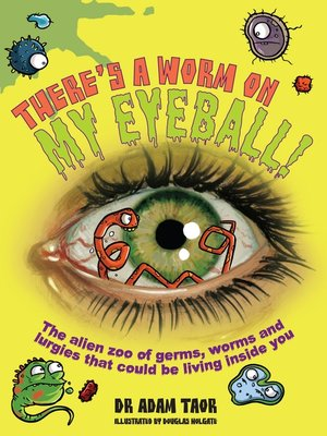 cover image of There's a Worm on My Eyeball
