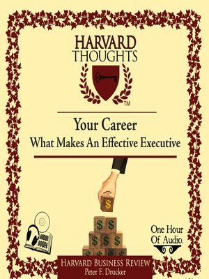 cover image of What Makes an Effective Executive