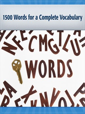 cover image of 1500 Words for a Complete Vocabulary