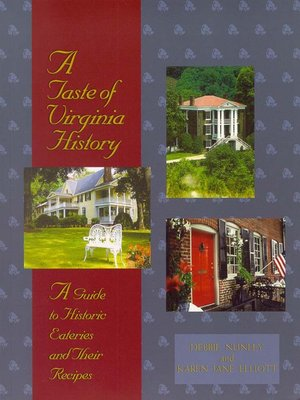 cover image of A Taste of Virginia History