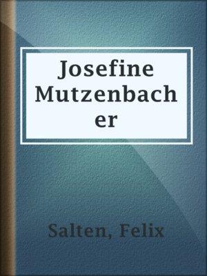 josefine mutzenbacher text