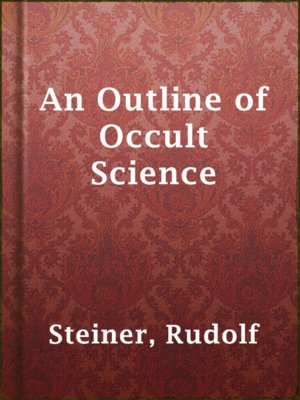 cover image of An Outline of Occult Science