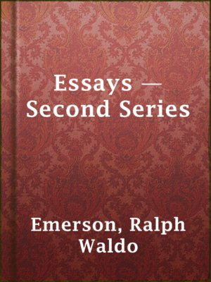 cover image of Essays — Second Series