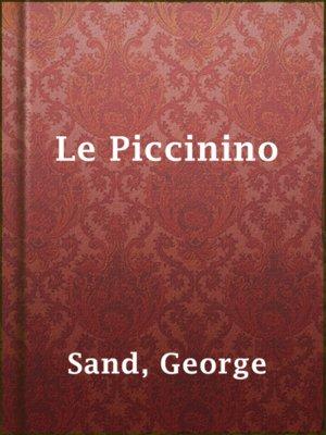 cover image of Le Piccinino