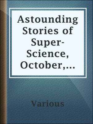 cover image of Astounding Stories of Super-Science, October, 1930