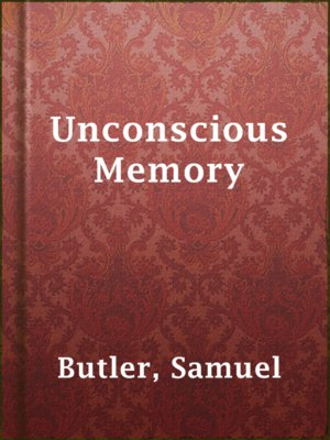cover image of Unconscious Memory