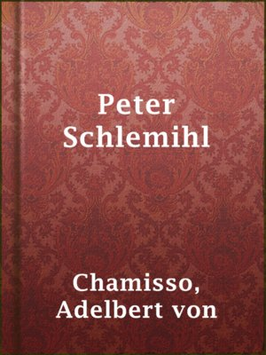 cover image of Peter Schlemihl