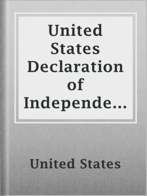 cover image of United States Declaration of Independence