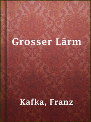 cover image of Grosser Lärm