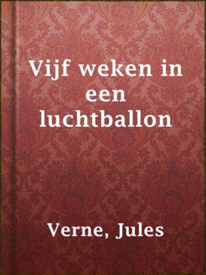 cover image of Vijf weken in een luchtballon