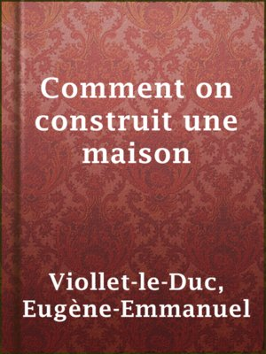 cover image of Comment on construit une maison