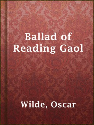 cover image of Ballad of Reading Gaol
