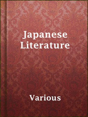 cover image of Japanese Literature