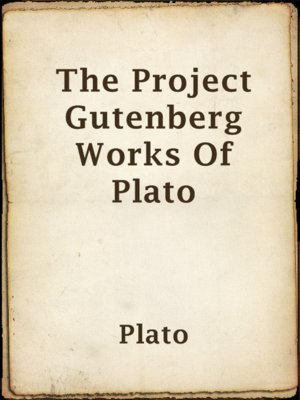 cover image of The Project Gutenberg Works Of Plato