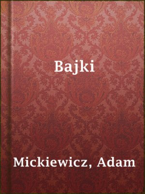 cover image of Bajki