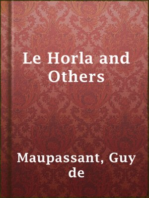 cover image of Le Horla and Others