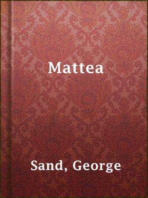cover image of Mattea
