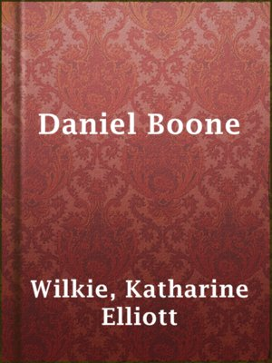 cover image of Daniel Boone