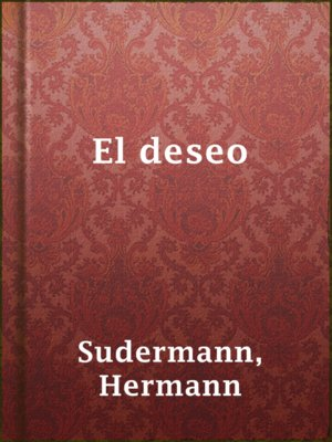 cover image of El deseo